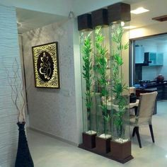 Best catalog for modern room divider partition wall design ideas 2019 Glass Partition Designs, Living Room Partition Design, Living Room Divider, Living Room Decor Colors, Living Room Designs, Partition Ideas, Living Rooms, Door Design, Wall Design