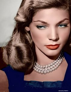 Lauren Bacall in color!