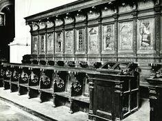 Stalli del coro di Monte Oliveto Maggiore.  1503-1505. In parte  portati  nel Duomo di Siena