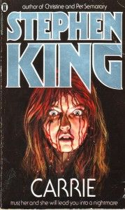 "9 Beloved Books That Almost Never Saw The Light Of Day ~ ""Carrie"" by Stephen King ~ ""Carrie"" wasn't Stephen King's first book (in fact, it was his fourth), but it was his first to be published. He's since called it a ""young book by a young writer,"" claiming he ""didn't expect much"" from the title. Said King: ""Who'd want to read a book about a poor little girl with menstrual problems? I couldn't believe I was writing it."""