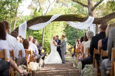 5/16 | Whitehead Manor Wedding #whiteheadmanorweddings #charlotteweddings #naturalarbor #outdoorceremony #outdoorvenue