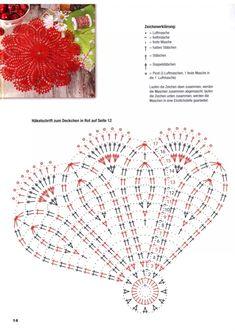 Jubii Webmail :: 🧶 Chrochet, Crochet doily patterns og flere idéer i dem Free Crochet Doily Patterns, Crochet Doily Diagram, Crochet Circles, Crochet Mandala, Crochet Chart, Thread Crochet, Crochet Designs, Crochet Flowers, Crochet Stitches
