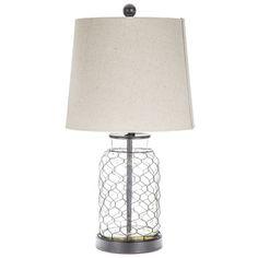 Chicken Wire Lamp