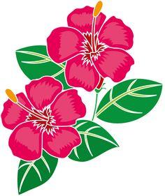 夏の花1-16-ハイビスカスイラスト