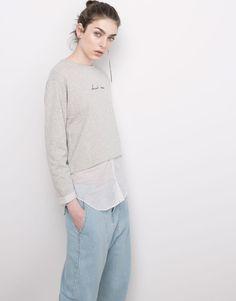 Pull&Bear - woman - sweatshirts - sweatshirt - grey marl - 05591332-V2016