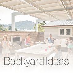 The purpose of the Wave Shade for this home was to have a space that the whole family could enjoy while being sheltered from the sun. The Wave Shade has done just that while also linking up the family room with the hall way, practically making another room. Timber Beams, Landscape Design, Shelter, Family Room, Pergola, Waves, Patio, Backyard Ideas, Outdoor Decor