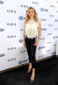 Peyton List at OPI Sets Guinness World Record for Longest Manicure Bar in Santa Monica