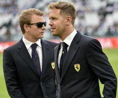 Sebastian and Kimi, Formula 1 pilots
