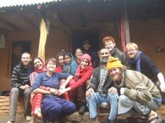 Volunteers from Ama & Buas terrace farm on a hillside in Begnas Tal overlooking the Annapurnas :-)