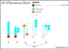 How to St Petersburg Stitch ~ Seed Bead Tutorials