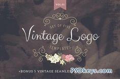 Vintage logo templates Vol 1 68417