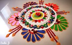 Diwali Special Rangoli Design, Easy Rangoli Designs Diwali, Diwali Rangoli, Rangoli Simple, Rangoli Designs Latest, Rangoli Designs Flower, Rangoli Patterns, Rangoli Designs Images, Beautiful Rangoli Designs