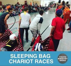 Chariot races are always fun. Youth Ministry Ideas and Games.