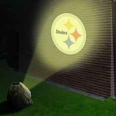 Yep, gonna need this!!!  Pittsburgh Steelers Solar-Powered Projection Rock