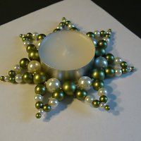 Svícen Holiday Crafts, Tea Lights, Candles, Beads, Winter, Craft, Xmas, Flowers, Beading