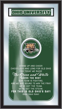 Fight Song Logo Mirror - Ohio University Bobcats