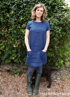 Camber Dress by Merchant and Mills // Behind the Hedgerow. Liberty bias trim to neckline and Liberty lined pockets.