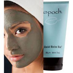 Nu skin epoch glacial marine mud new face body Nu Skin, Marine Mud Mask, Glacial Marine Mud, Epoch, Beauty Magazine, Beauty Secrets, Face And Body, Skin Care, Beauty