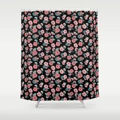 Gorgeous Summer_black Shower Curtain Floor Pillows, Throw Pillows, Black Shower Curtains, Acrylic Box, Surface Pattern Design, Creative Design, Old School, Bar Stools, Original Artwork