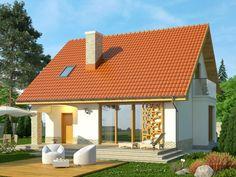Projekt domu Bella 4 - widok 2 Style At Home, Home Fashion, Bella, Gazebo, Outdoor Structures, House Styles, Outdoor Decor, Studio, Home Decor