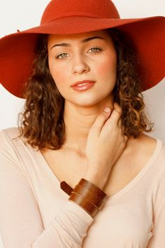Brown Leather Wrap Bracelet for Women, Adjustable Leather Cuff on Etsy, $25.00