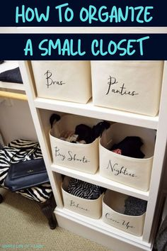 Tips and tricks for organizing a small closet.