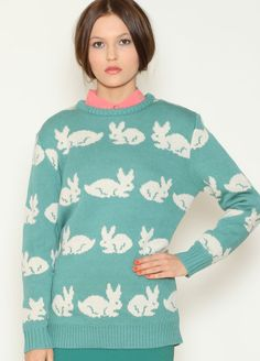 Blue Bunny Sweater