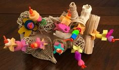 Diy Bird Toys, Diy Toys, Diy Bird Cage, Parakeet, Parrots, Pet Birds, Mythology, Pets, Recipes