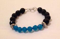 Fire polish czech glass beads black mate by Rossanascorner on Etsy, $24.99