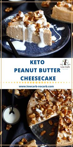 Quick and easy to make, this Keto Peanut Butter Cheesecake made in an Instant Pot will be the best ever keto dessert on the table. Low Carb Peanut Butter, Peanut Butter Cheesecake, Low Carb Cheesecake, Cheesecake Recipes, Keto Recipes, Dessert Recipes, Ketogenic Recipes, Recipes Dinner, Ketogenic Diet