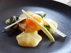 Slow cooked duck egg yolk by Etch restaurant Brighton Brighton And Hove, Best Dining, I Want To Eat, Slow Cooker, Egg, Restaurant, Breakfast, Book, Places