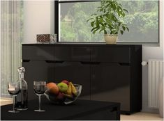Hampton Black Gloss Sideboard