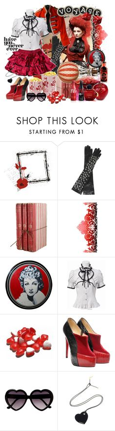 """."" by elafashionable ❤ liked on Polyvore featuring CABARET, Nina Peter, Timorous Beasties, Christian Louboutin and Yves Saint Laurent"
