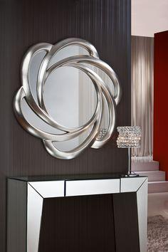 miroir baroque silver miroirs de d coration murale. Black Bedroom Furniture Sets. Home Design Ideas