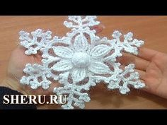 How To Crochet Snowflake Pattern Урок 8 часть 1 из 2 Вязание крючком сне...