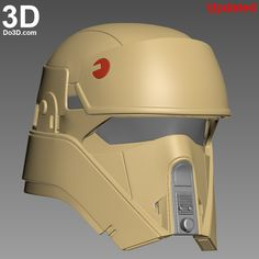 3D Printable Model: Shoretrooper (Also Known as Shadow, SandTrooper) Helmet from Rogue One: A Star Wars Story | Print File Formats: STL OBJ – Do3D.com