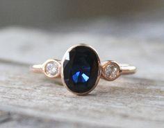 1.72 Cts. Cornflower Blue Sapphire Diamond Ring in by Studio1040, $898.00