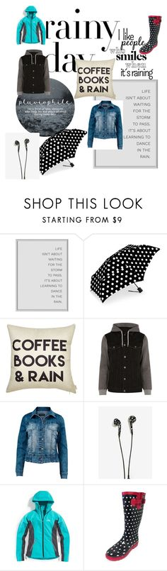 """Rainy days"" by sophiepegasus ❤ liked on Polyvore featuring ShedRain, River Island, Venus, Eastern Mountain Sports, rainydayoutfit and plus size clothing"