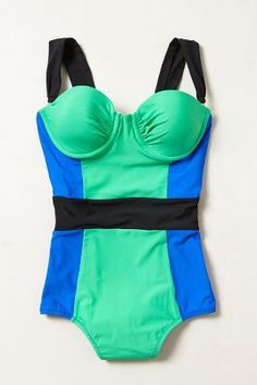 {amazing colorblock one piece swimsuit with REMOVABLE STRAPS #obsessed}
