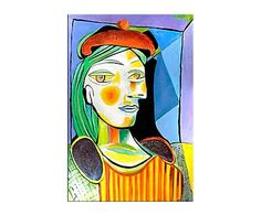 Framed Art Print: Girl with Red Beret Framed Art by Pablo Picasso : Red Wall Art, Colorful Wall Art, Wooden Wall Art, Pablo Picasso, Art Picasso, Framed Art Prints, Framed Artwork, Fine Art Prints, Framed Wall