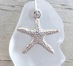 Summer Starfish Sea Glass Necklace by WaveofLife on Etsy, $18.00