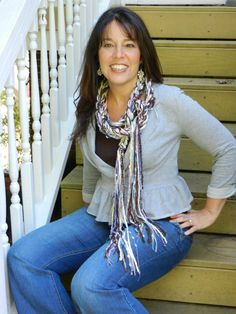 Women's Bohemian Fashion Scarf. The Pippy skinny scarves are fun and funky and look fantastic with daytime or evening wear. They are great photography portrait props too. Pippy Crocheted scarves have many textures and fibers from around the world.