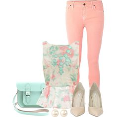 """""""Peplum & Pastel"""" by qtpiekelso on Polyvore"""