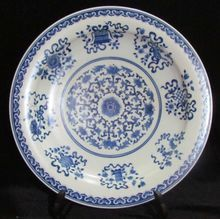 17th Century Chinese Kangxi Emperor Period Blue and White Porcelain Flowers and Plants Plate