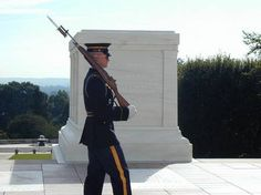 Tomb of the unknown Soldier at Arlington Cemetery  In Arlington  VA