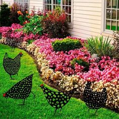Metal Chicken, Design Jardin, Outdoor Living, Outdoor Decor, Yard Art, Garden Projects, Garden Inspiration, Backyard Landscaping, Farmhouse Decor