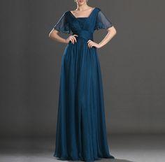 Oscuro gasa verde corto vestido de noche de la man de Customsize por DaWanda.com
