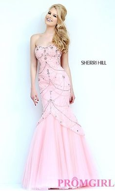 Floor Length Strapless Mermaid Gown by Sherri Hill at PromGirl.com