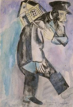 Remembrance by Marc Chagall, Guggenheim Museum Size: cm Medium: Gouache, ink, and graphite on paper Marc Chagall, Chagall Paintings, Museums In Nyc, Jewish Art, French Artists, Illustration, Modern Art, Art Projects, Sculpture