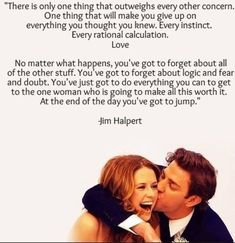 The office! Best quote ever! Love the office Fandoms Unite, Romance, Quotes To Live By, Me Quotes, Jim And Pam Quotes, Funny Quotes, Funny Office Quotes, Funny Memes, Couple Quotes
